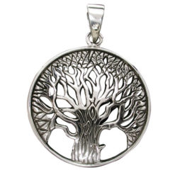 Sterling Silver 25mm Tree Of Life Pendant