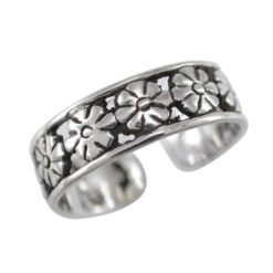 Sterling Silver 5mm Flower Toe Ring