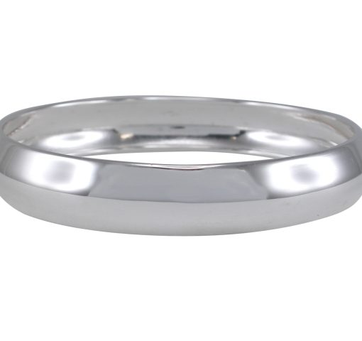 Sterling Silver 12mm Domed Hollow Golf Bangle 65mm