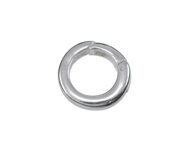 Sterling Silver 14mm Spring Opening Ring. Ideal For Attaching Pendants To Chains Or Bracelets