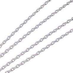 Sterling Silver 1.2mm Cable Chain
