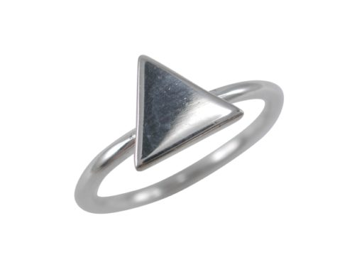 Sterling Silver 9mm Triangle Ring