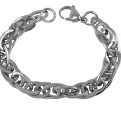 Stainless Steel Interlocked Link Bracelet 20cm