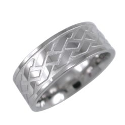 Stainless Steel 8mm Tyre Tread Pattern Ring