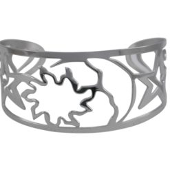 Stainless Steel 28mm Sun Moon And Stars Cuff Bangle