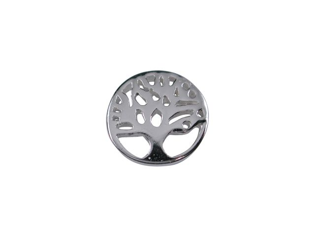 Sterling Silver Tree Of Life In Circle Butterfly Memories Charm