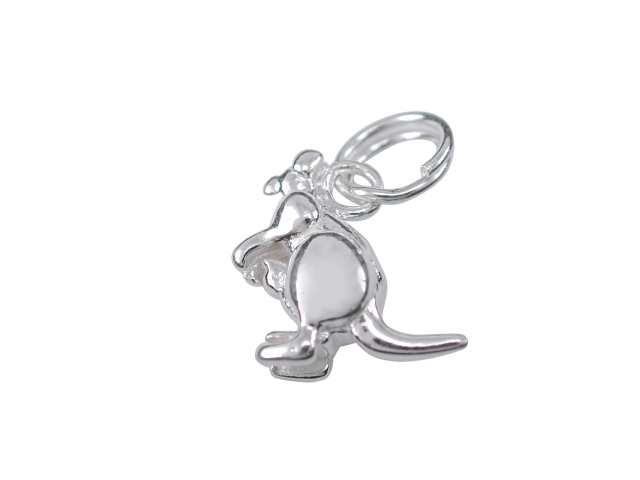 Sterling Silver 12mm Kangaroo Charm With Split Ring