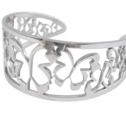 Stainless Steel 30mm Butterfly Cuff Bangle