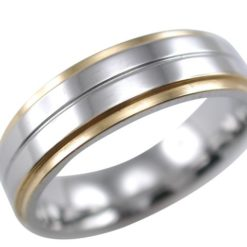 Stainless Steel 5mm Gold Ip Edge Ring