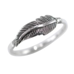 Sterling Silver 5mm Feather Ring