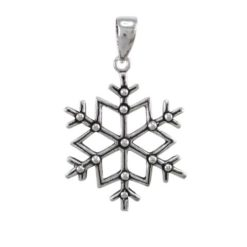 Sterling Silver 18mm Snowflake Pendant