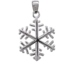 Sterling Silver 17mm Snowflake Pendant