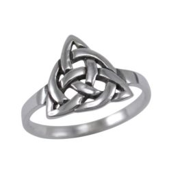 Sterling Silver 11mm Triangle Celtic Ring