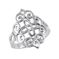 Sterling Silver 18mm Filigree Ring