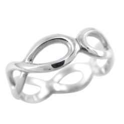 Sterling Silver 6.5mm All Around Infinity Ring