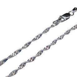 Sterling Silver 2.0mm Singapore Twist Bracelet