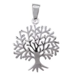 Sterling Silver 26x20mm Tree Of Life Pendant