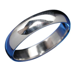 Sterling Silver 5mm Half Round Wedder Band Ring