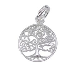 Sterling Silver 12mm Tree Of Life Charm With Split Ring