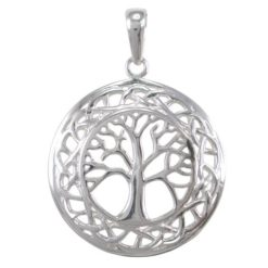 Sterling Silver 25mm Celtic Tree Of Life Pendant