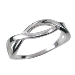 Sterling Silver 5mm Infinity Ring