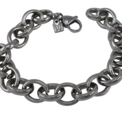 Stainless Steel 10mm Oval Chunky Link Bracelet 19cm