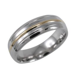 Stainless Steel 6mm Gold Ip Ring