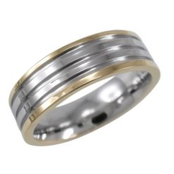 Stainless Steel 6.5mm Gold Ip Centre Ring