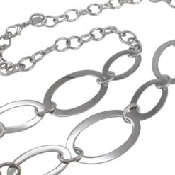 Stainless Steel 42mm Oval Link Necklet 95cm