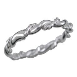 Sterling Silver 2.5mm Twisted Wire Ring