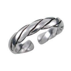Sterling Silver 3mm Twisted Toe Ring