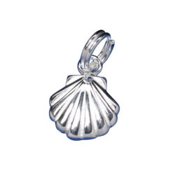 Sterling Silver 9mm Scallop Shell Charm With Split Ring