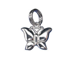 Sterling Silver 8x11mm Butterfly Charm With Split Ring