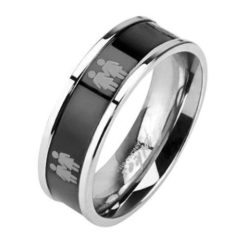 Stainless Steel 6mm Two Female Symbols Ring