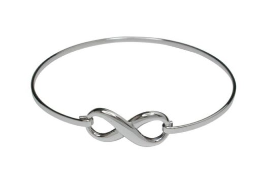 Sterling Silver 11x22mm Infinity Bangle 58x52mm