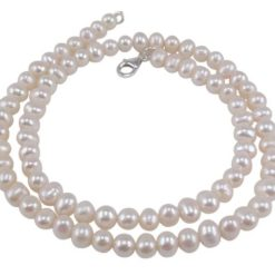 Sterling Silver 6mm Freshwater Pearl Necklet 45cm