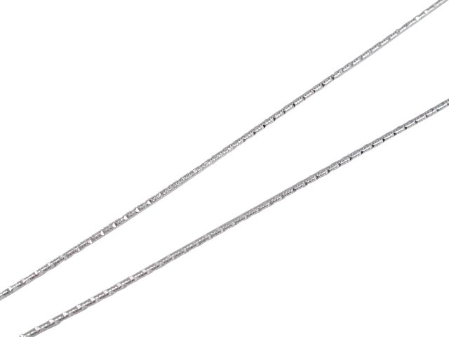 Sterling Silver 0.9mm Diamond Cut Snake Chain