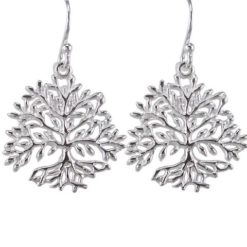Sterling Silver 18mm Tree Of Life Drop Earrings