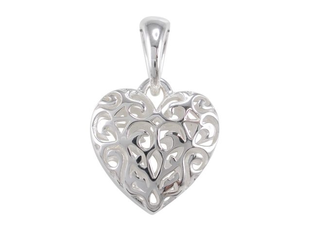 Sterling silver 20mm double sided filigree heart pendant butterfly sterling silver 20mm double sided filigree heart pendant aloadofball Gallery