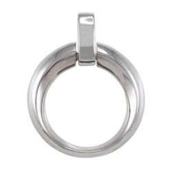 Sterling Silver 32mm Heavy Contoured Circle Pendant