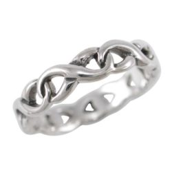 Sterling Silver 4mm Interlocked Infinity Ring