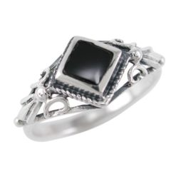 Sterling Silver 8mm Black Onyx Ring