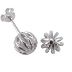 Sterling Silver 7mm Wire Ball Stud Earrings