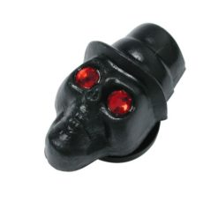 Acrylic Black Top Hat Skull Plug 10mm