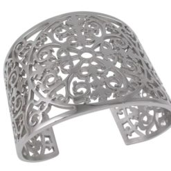 Stainless Steel 50mm Filigree Cuff Bangle