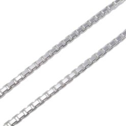 Sterling Silver 1.8mm Diamond Cut Corners Box Chain