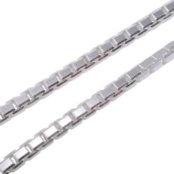 Sterling Silver 2.8mm Diamond Cut Corners Box Chain