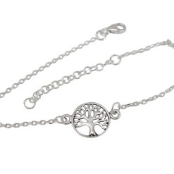 Sterling Silver 10mm Tree Of Life Bracelet 16-19cm