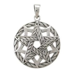 Sterling Silver 27mm Pentagram Pendant