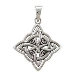 Sterling Silver 27mm Celtic Knot Pendant